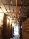 Completion of pipework to specific corridor zone.